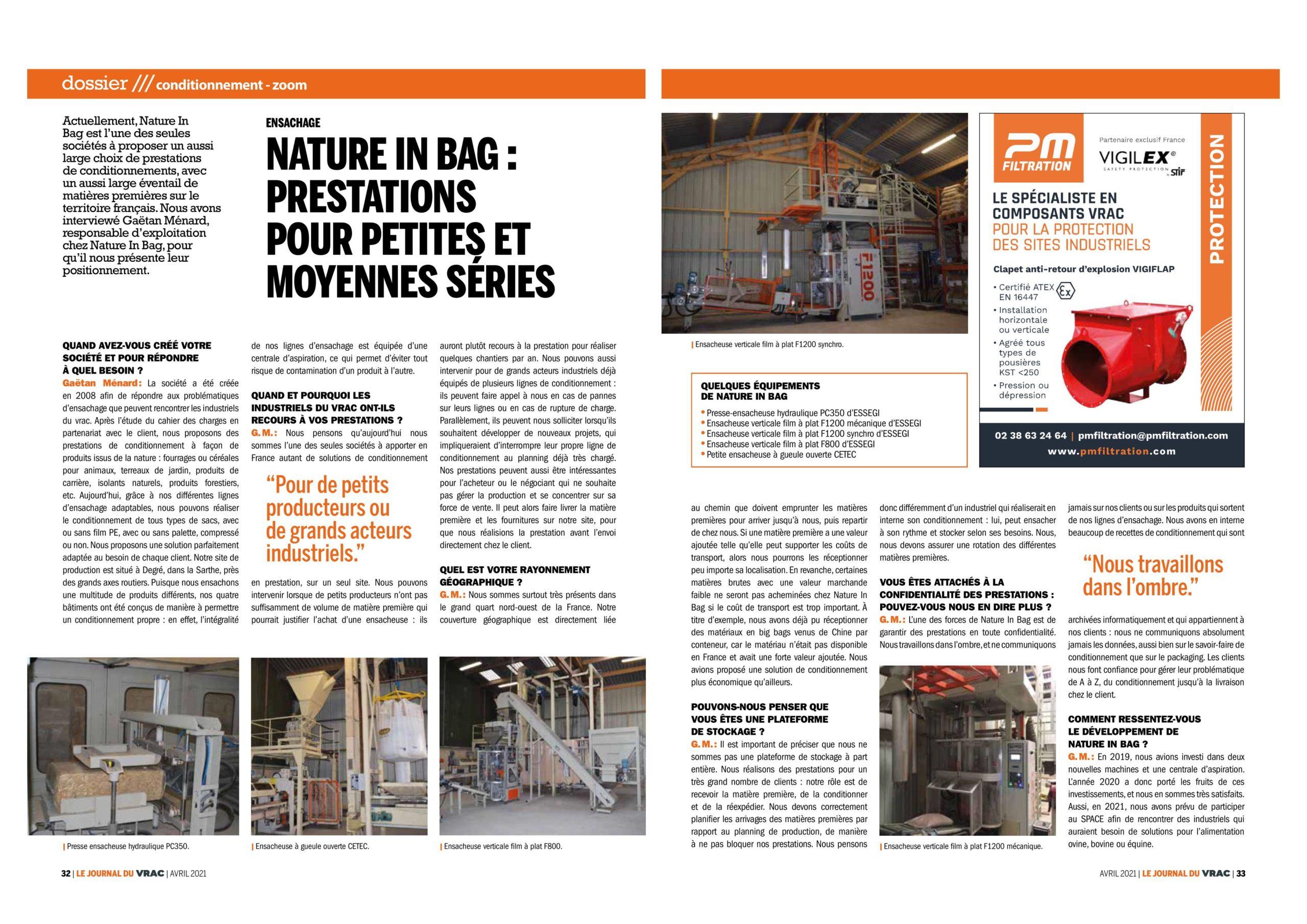 NATURE IN BAG dans la revue LE JOURNAL DU VRAC