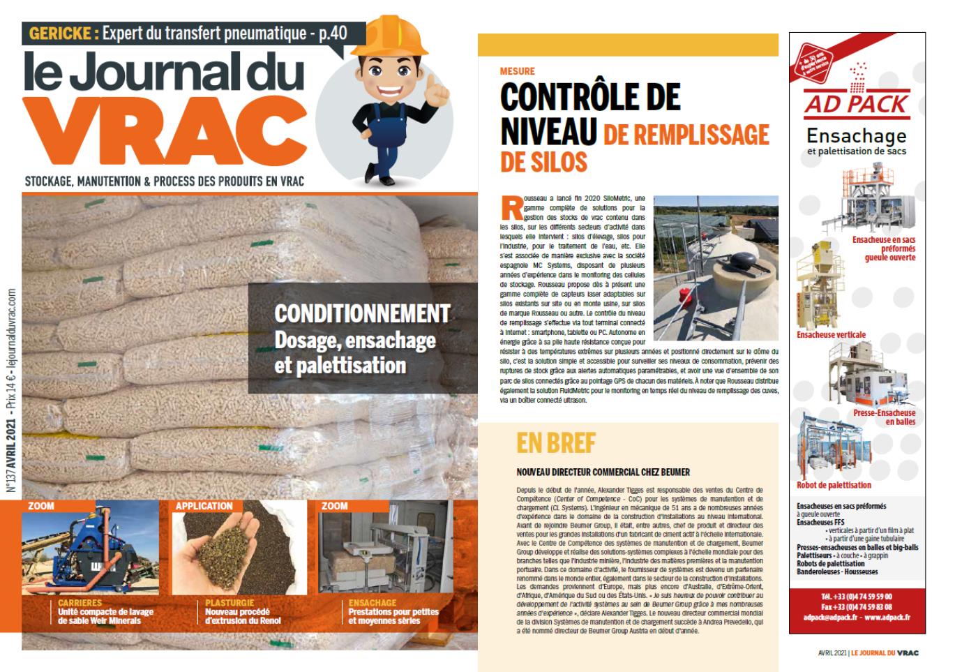AD PACK dans la revue LE JOURNAL DU VRAC